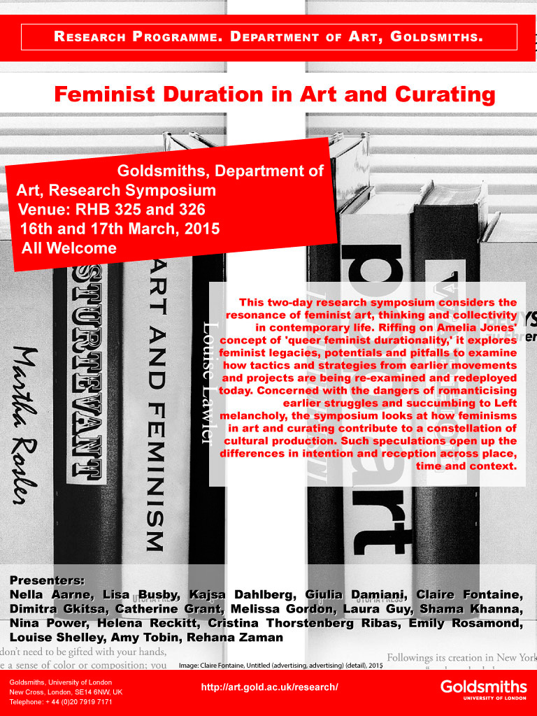 Feminist duration in art and curating symposium