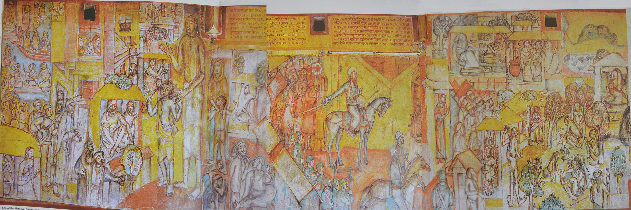 On benod behari mukherjees mural medieval saints tagore life of medieval saints north wall hindi bhavanweb amipublicfo Image collections
