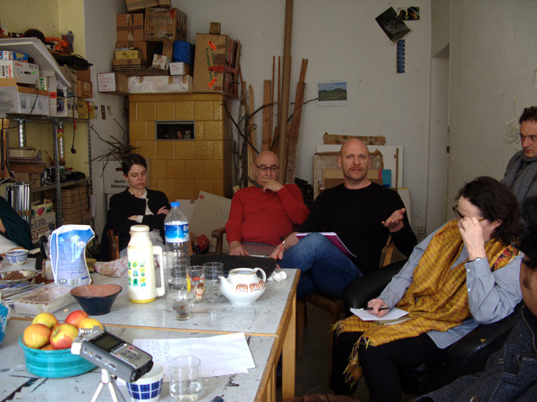 Alice Creischer and Andreas Siekmann's Studio, Berlin, 12 April 2014